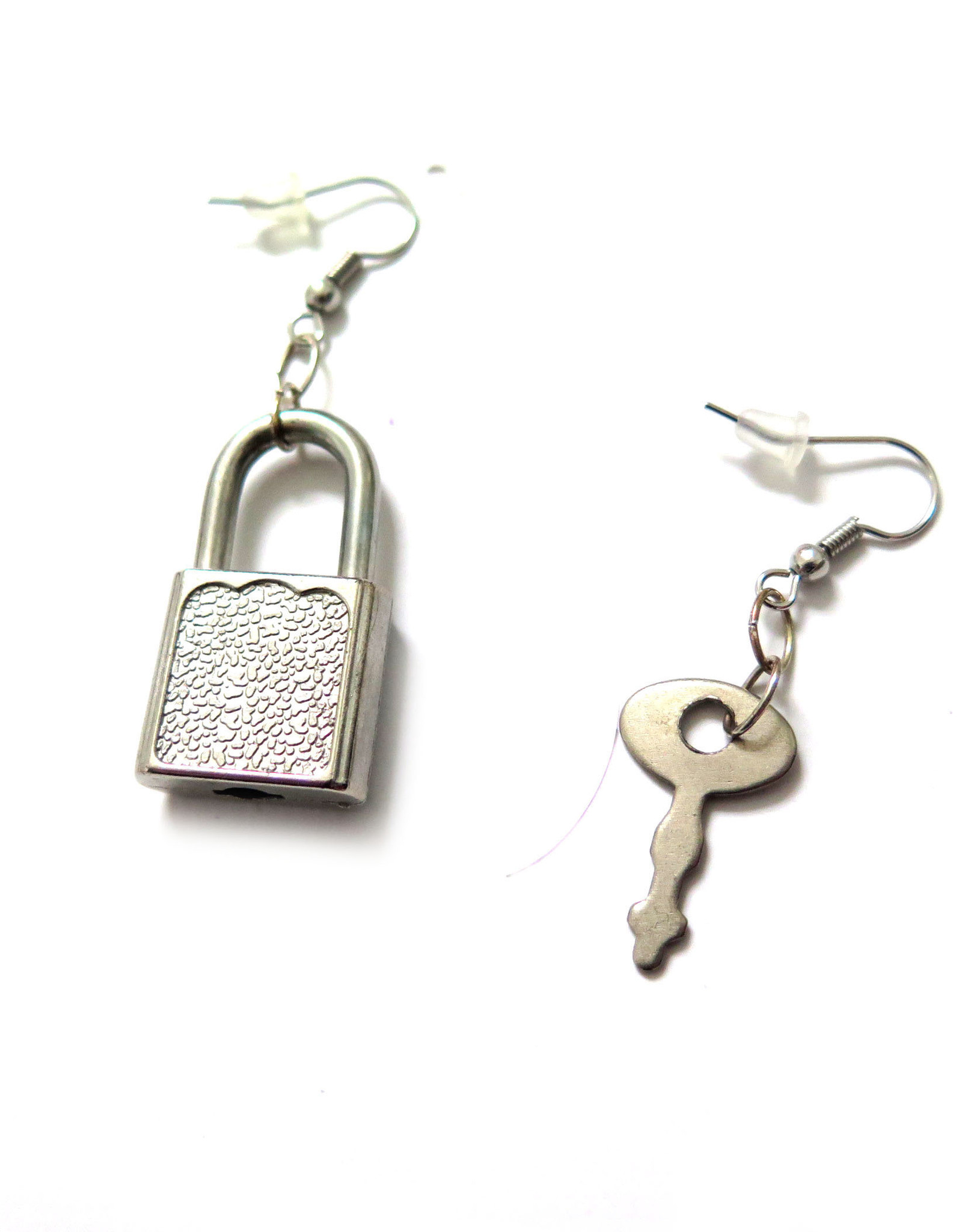 Key/Lock mixed media earring by Spooky Spectacles