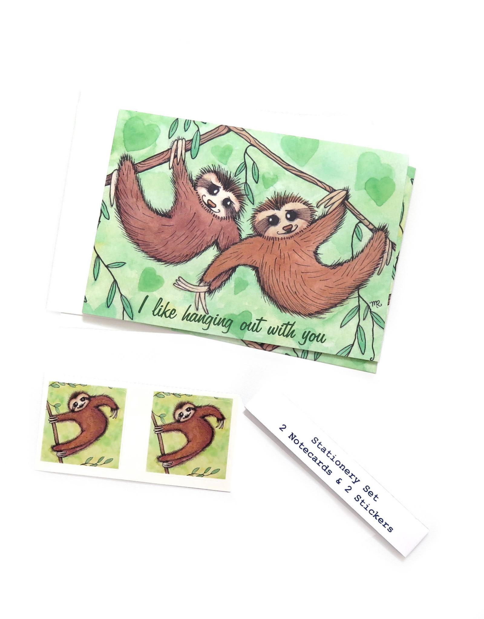 Melissa Rohr Gindling Sloth Stationery Set by Melissa Rohr Gindling