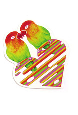 Megan Rivera Love Birds Stickers by Megan Rivera