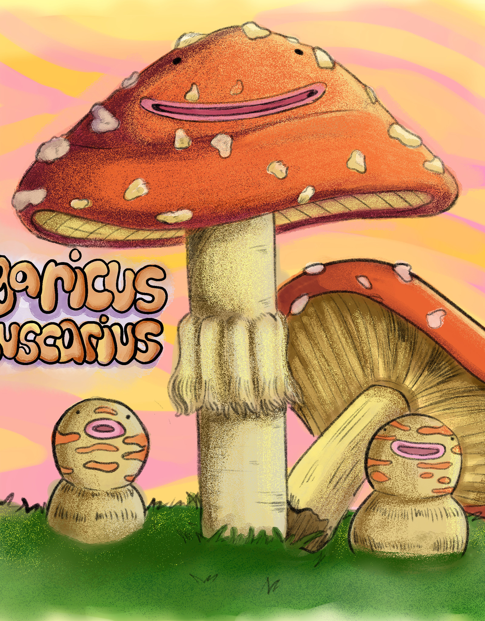 """Agaricus Muscarius"" print by Brain Smoothie"