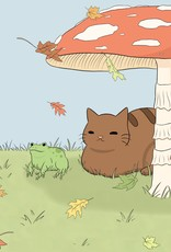 """""""Fall Best Friends"""" print by BumblebeeCat Illustrations"""