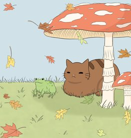 "BumblebeeCat Illustrations ""Fall Best Friends"" print by BumblebeeCat Illustrations"