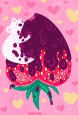 "Megan Rivera ""Chocolate Strawbeary"" print by Megan M. Rivera"