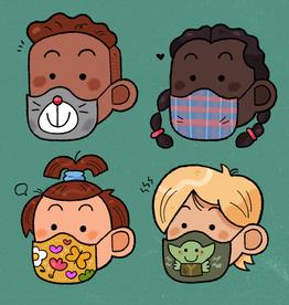 """Elio """"Kids in Masks"""" print by Elio"""
