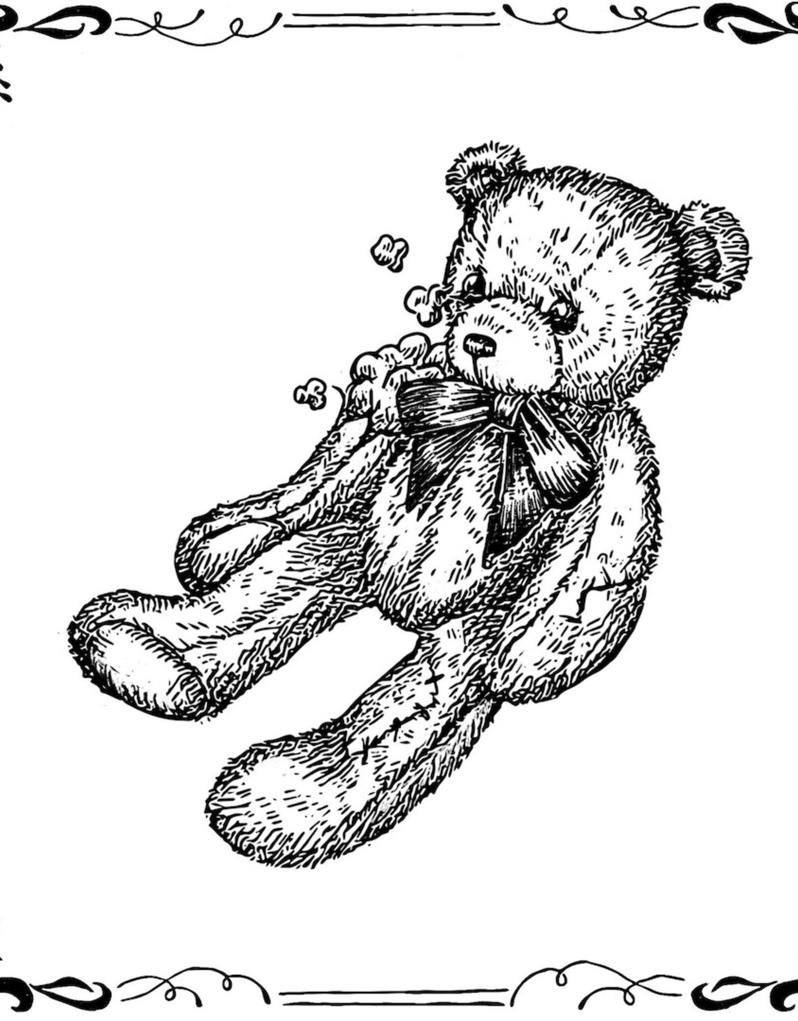 """Worn and Torn Teddy Bear"" print by Alli Davis / slxpxke"