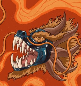 """Dragon Mask"" print by Ryan Brumback"