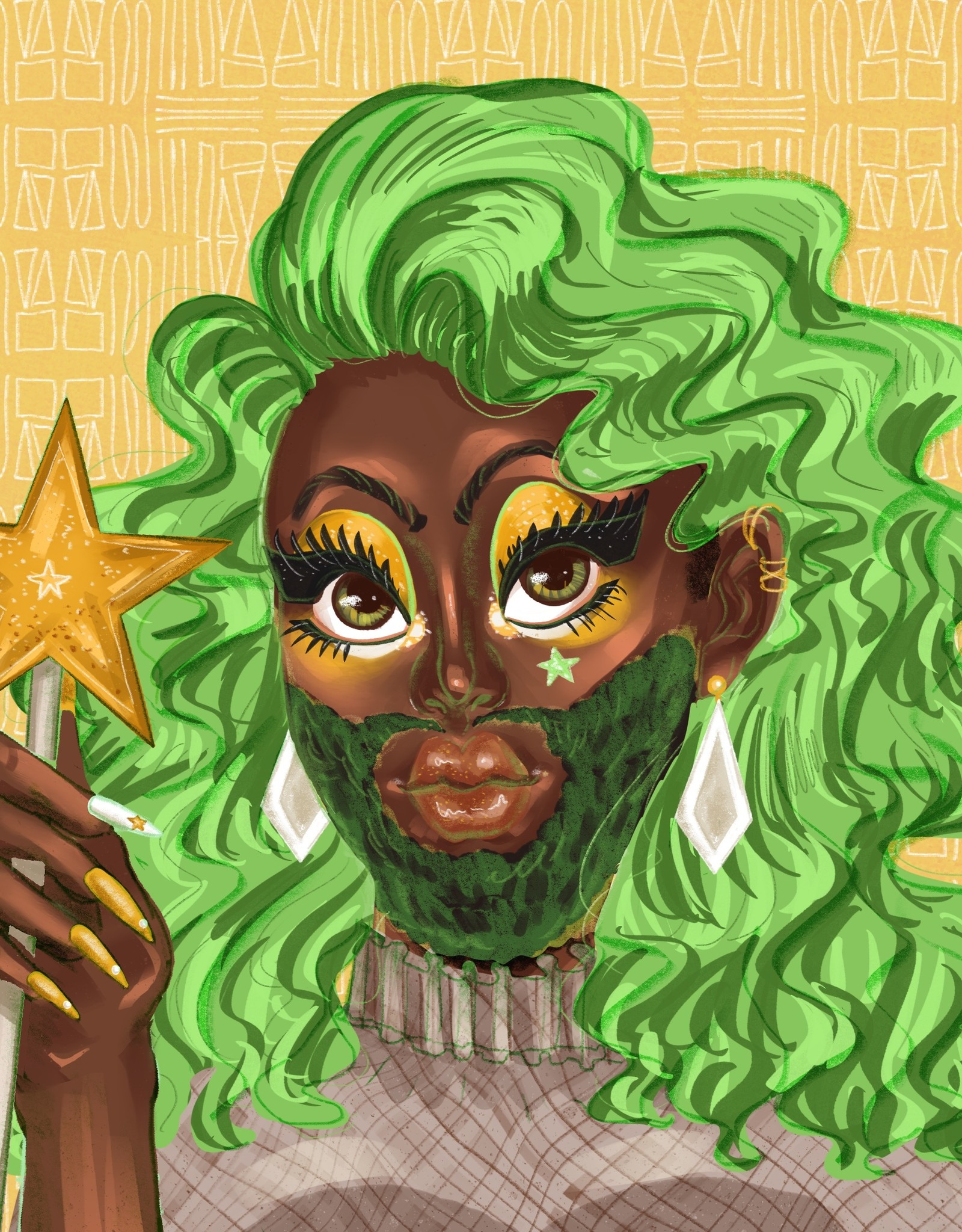 'Star Fruit!'' sticker by Natasha Uno