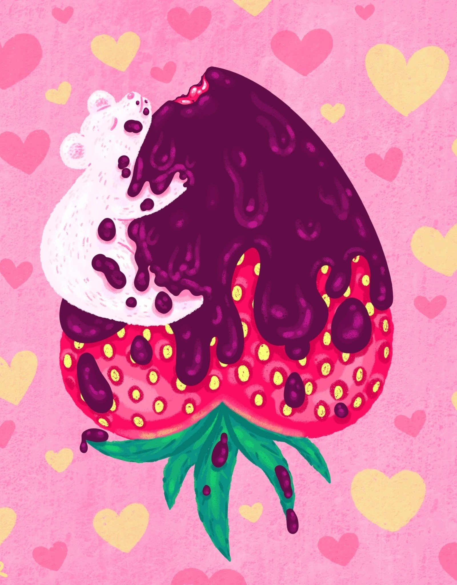 Megan Rivera 'Chocolate Strawbeary'' sticker by Megan M. Rivera