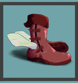 'Winged Boots'' sticker by virsath