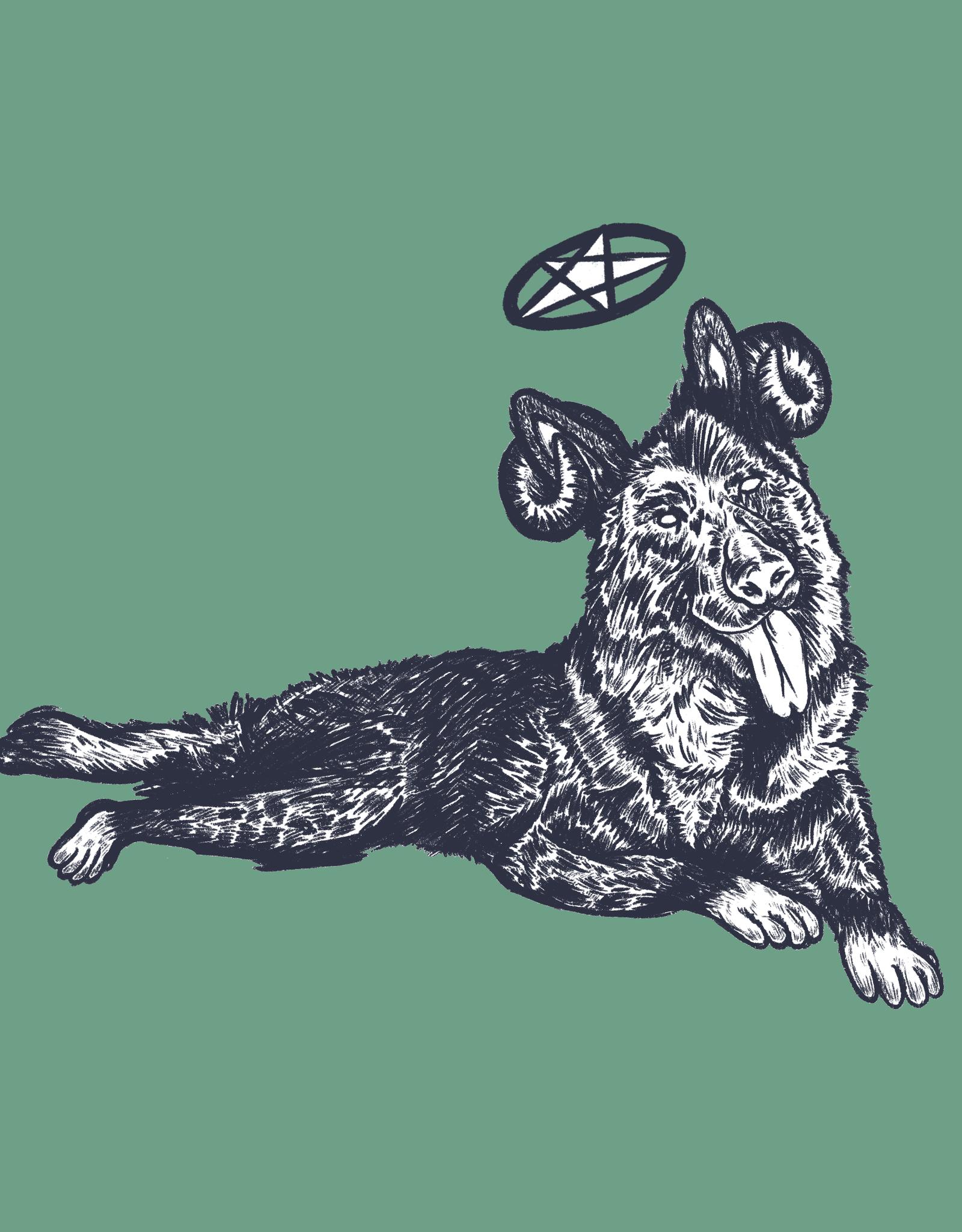 'Medium Dog'' sticker by Alex G/ilistentoemo