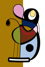 'Digital Abstract Color Study 5''  sticker by Kenise Gaston