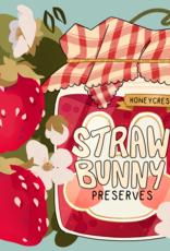 'Straw-Bunny Preserves'' sticker by Hunibeetea