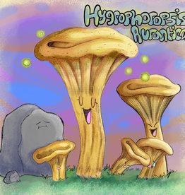 'Hygrophoropsis Aurantica''sticker by Brain Smoothie