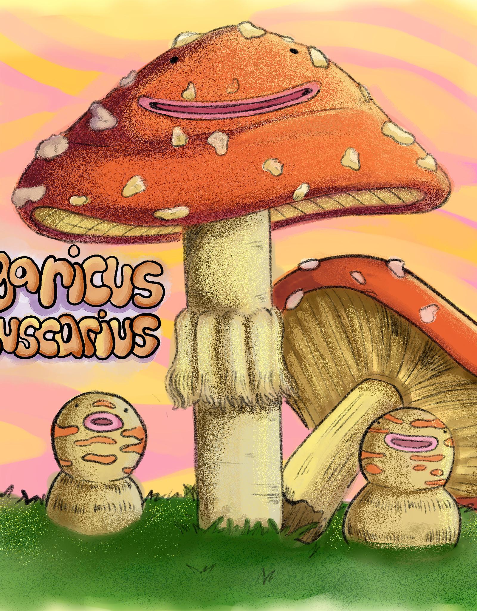 'Agaricus Muscarius'' sticker by Brain Smoothie