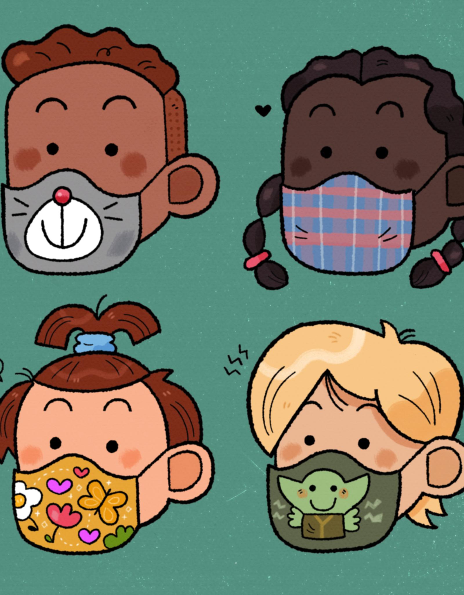 Elio 'Kids in Masks'' sticker by Elio