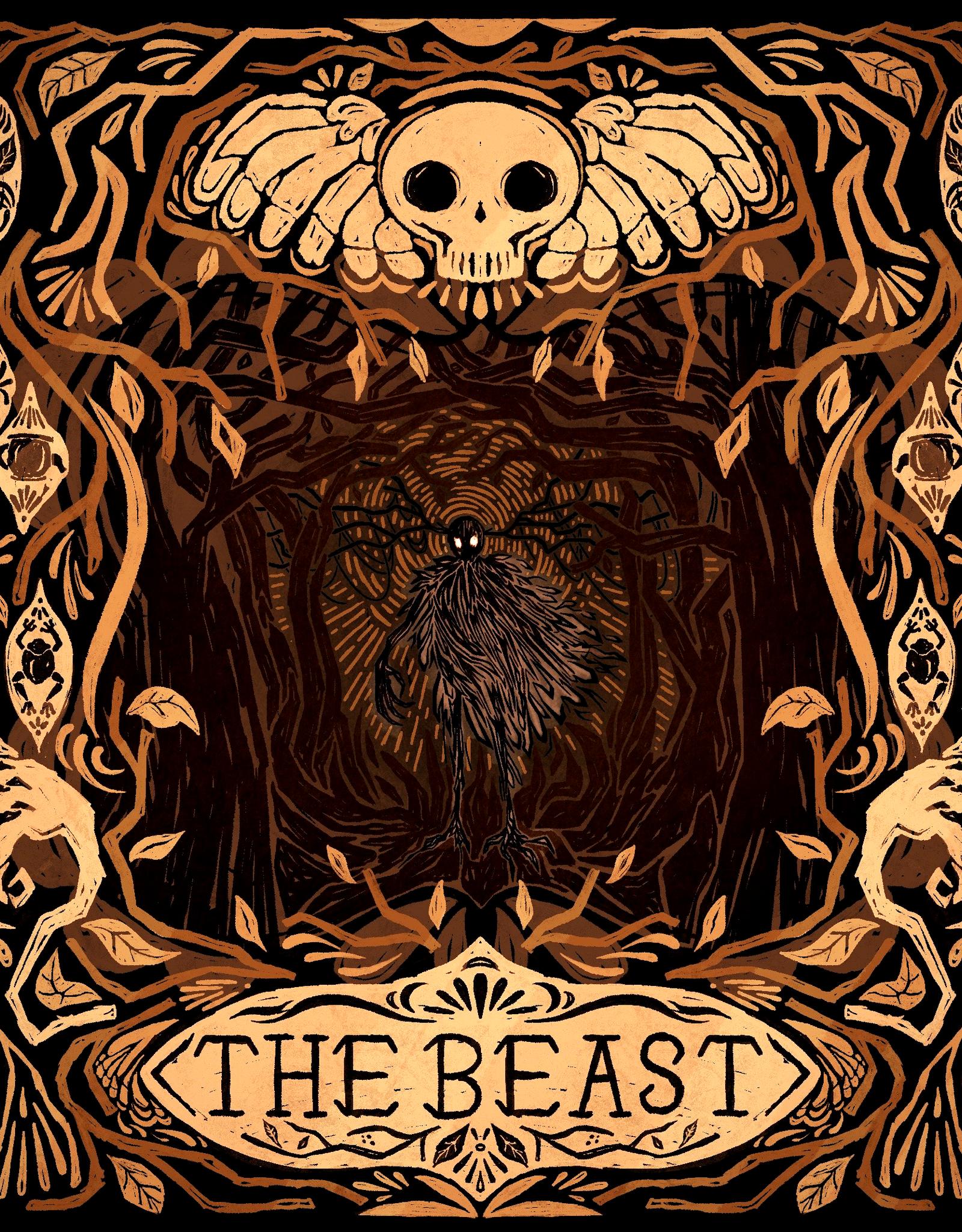 'The Beast''  sticker by Jennifer Chavez