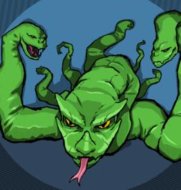 'The Lernaean Hydra'' sticker by Raymond Abad / PlainClothesHero