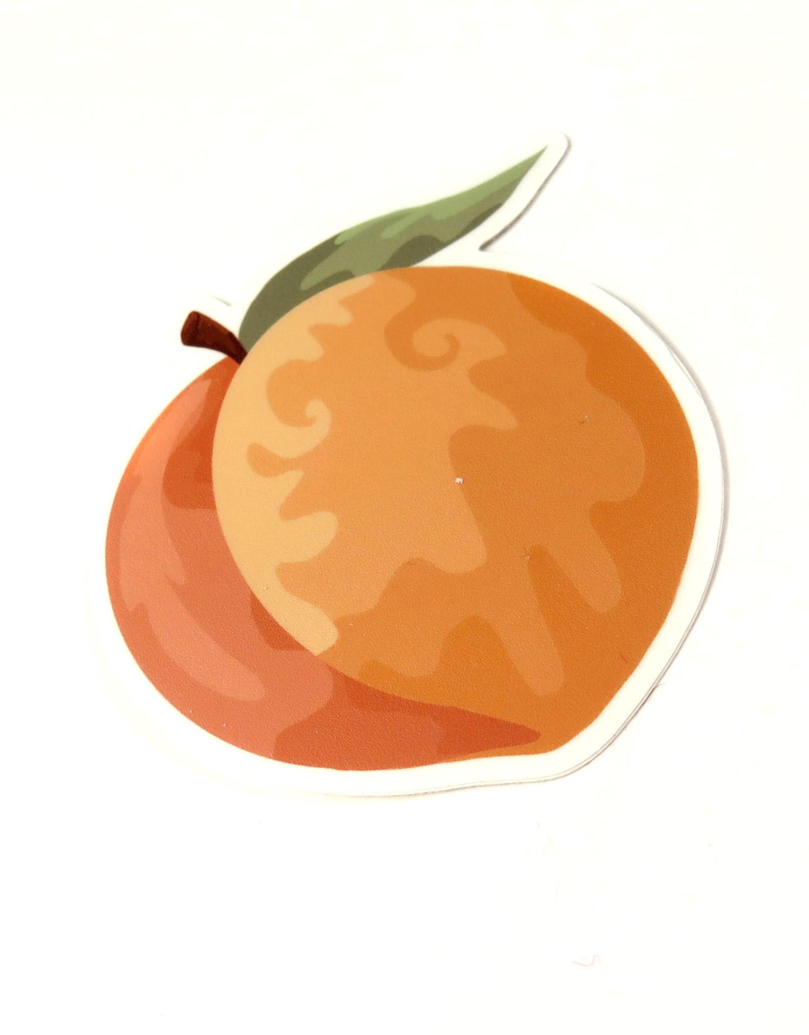 Designed by KateT Peach Sticker by Designed by KateT