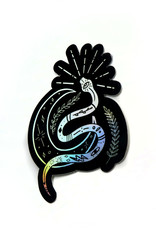 Designed by KateT Holographic Snake and Moon Sticker by Designed by KateT