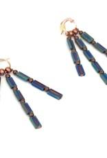 Rothko Ceramic Tile  Earrings by Jason Hall