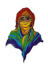 Sam Kirk Rainbow Hijab, Giclee Print by Sam Kirk
