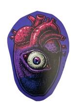 """Gay Horror!"" Bi Heart Sticker by The Miasma"