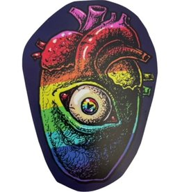 """""""Gay Horror!"""" Rainbow Heart Sticker by The Miasma"""