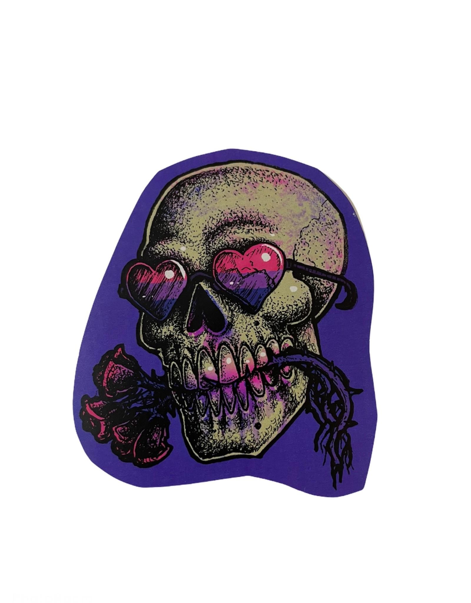 """Gay Horror!"" Bi Skull Sticker by The Miasma"