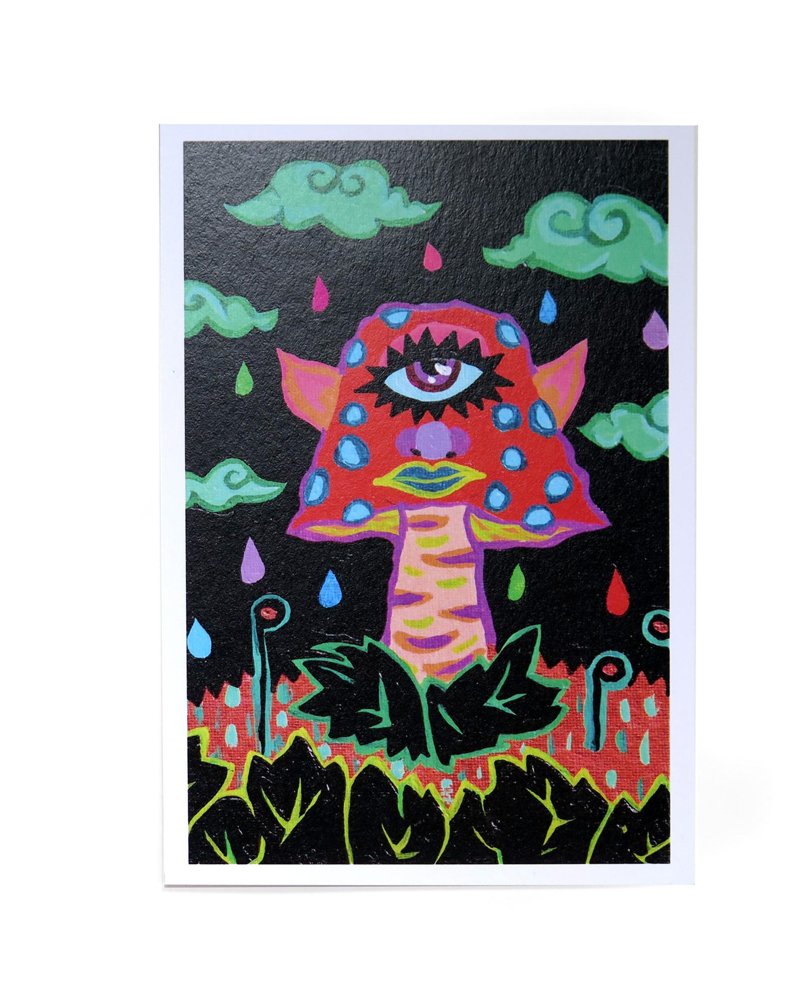 """Mushroom Mirage"" postcard print by Oliver Grenke"