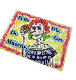 Dia de los muertos Postcard by Lizzie Monsreal