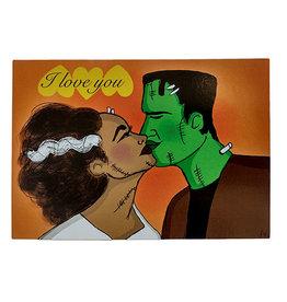 Frankenstein Couple Postcard by Lizzie Monsreal