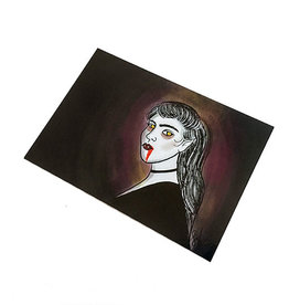 Vampire Postcard by Lizzie Monsreal