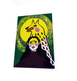 Werewolf Postcard by Lizzie Monsreal