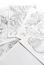"""Dark Mythology"" Coloring Page Pack by Kristel Becares"