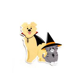 """""""Halloween Pets"""" sticker by Hailey DeWitt"""