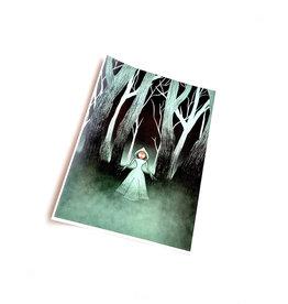 """Flatwoods Monster"" print by Hailey DeWitt"