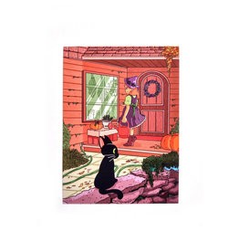 """""""Purple Witch"""" mini print by Andrea Bell"""
