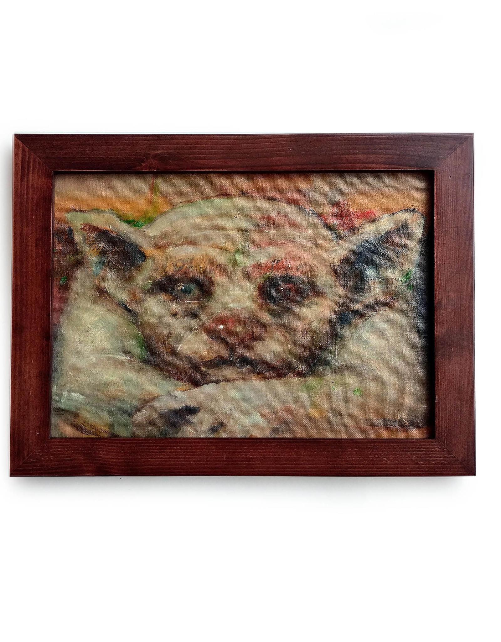 """Gargoyle"" oil painting by Richard Laurent"