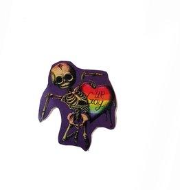 """""""Gay Horror!"""" Cupid Sticker (Rainbow) by The Miasma"""