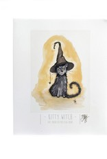 """Melissa Rohr Gindling """"Kitty Witch"""" Art Print by Melissa Rohr Gindling"""