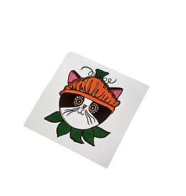 Pumpkin Cat Sticker  by Lizzie Monsreal