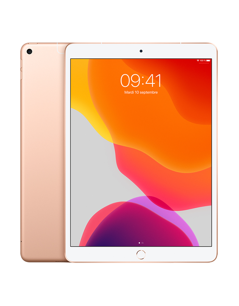 APPLE iPad Air 10,5 po Wi-Fi + Cellulaire 256 Go - Or