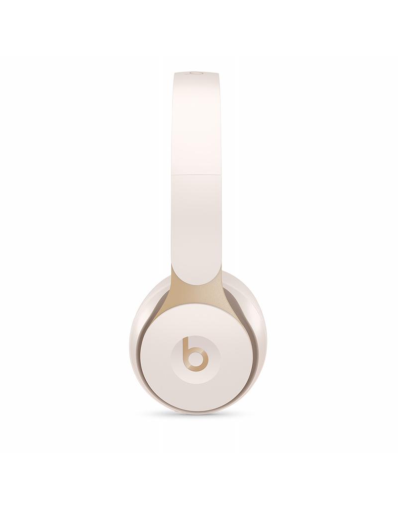 APPLE Casque d'écoute sans fil avec annulation du bruit Solo Pro Wireless de Beats - Ivoire