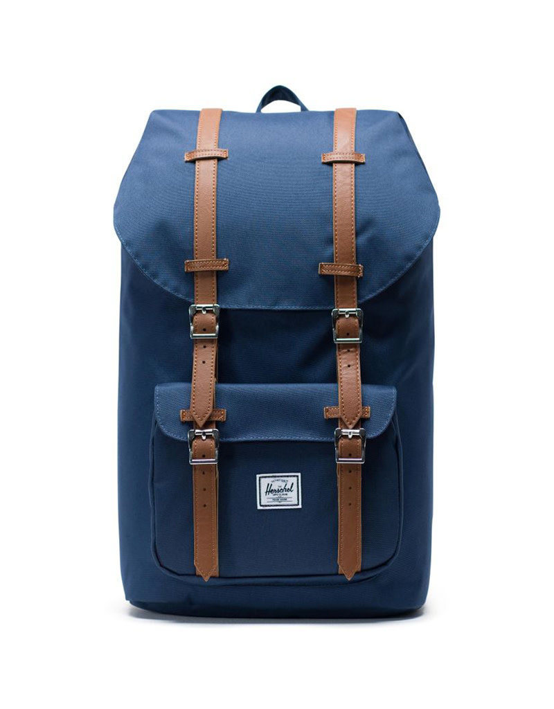 Herschel Sac à dos - Little America - Marin/Cuir Synthétique Marron