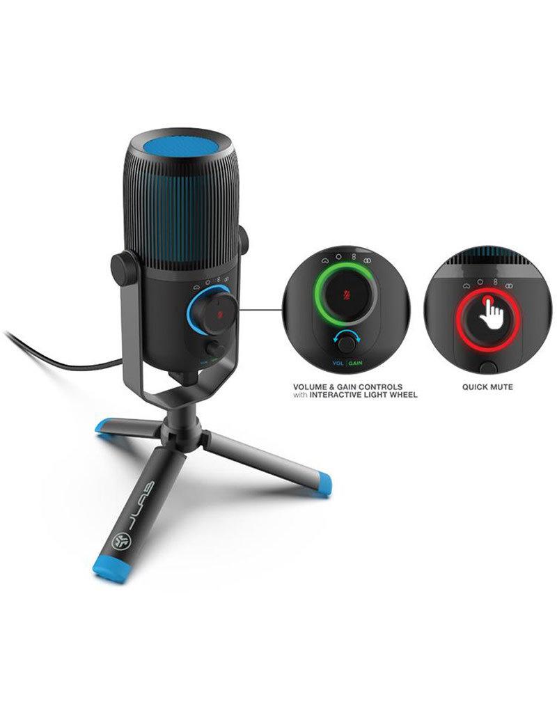 Jlab Audio Talk Pro Micro USB - Talk | Sortie USB-C | Cardioïde, omnidirectionnel, stéréo ou bidirectionnel | Fréquence d'échantillonnage 96 K | Réponse en fréquence 20 Hz - 20 kHz | Volume, contrôle du gain, silencieux rapide | Plug & Play