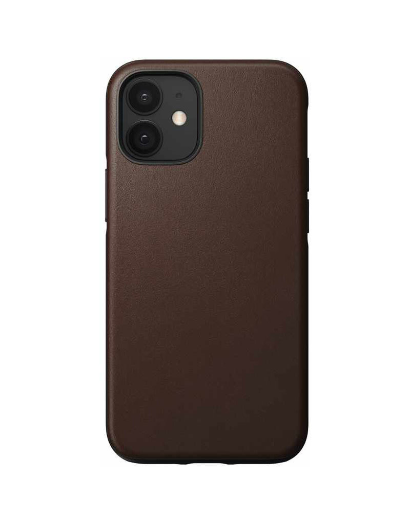 Nomad Protective Case Rugged Leather for iPhone 12 mini - Rustic Brown