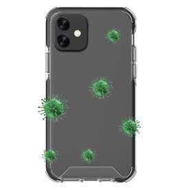 Blu Element Protective Case Antimicrobial DropZone Rugged for iPhone 12 mini - Clear/Black