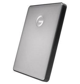 G-Technology Disque dur externe portable G-Drive avec câble USB-C / USB-A - 2 To - Gris