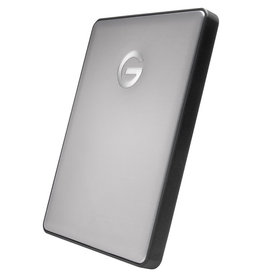 G-Technology Portable Hard Drive G-Drive with USB-C / USB-A cable - 2 Tb - Grey