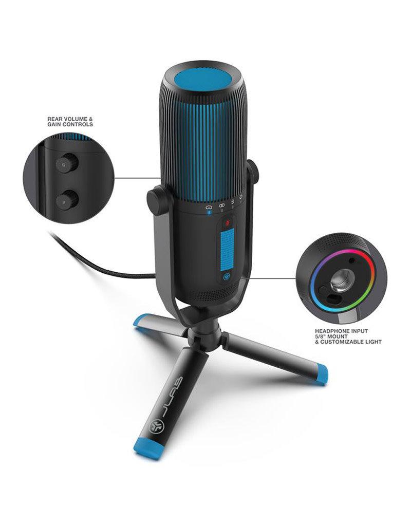 Jlab Audio Talk Pro USB Microphone | USB-C Output | Cardioid, omnidirectional, stereo, bidirectional | Sampling rate 192 K | Frequency response 20 Hz-20 kHz | Volume, gain control, rapid silent | Plug & Play